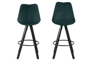 Čalouněná barová židle ACTONA DIMA - láhev zelená, černé nohy small 1