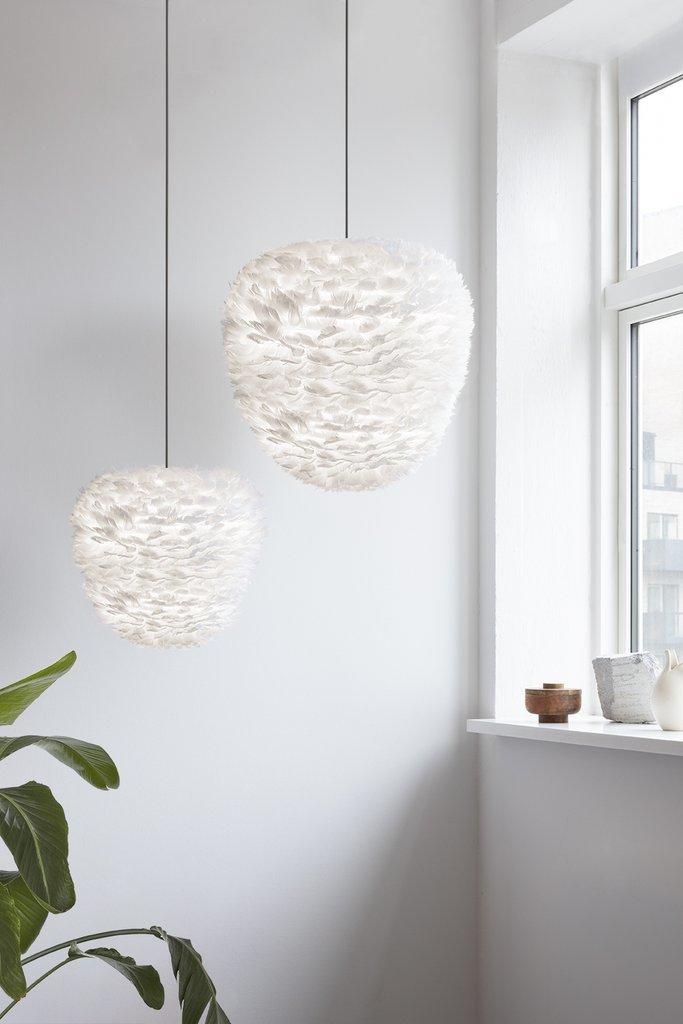 Závěsná lampa z peří UMAGE Aluvia Eos Evia Large Ø 55