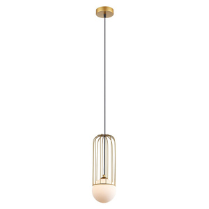 Zlatá závěsná lampa Simon G9 small 1