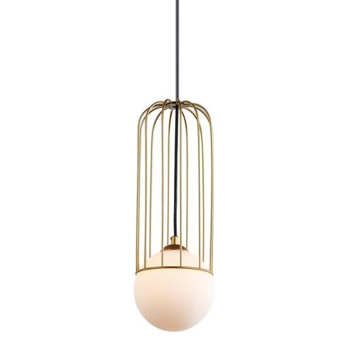 Zlatá závěsná lampa Simon G9