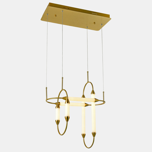 Měděná závěsná lampa Degal LED