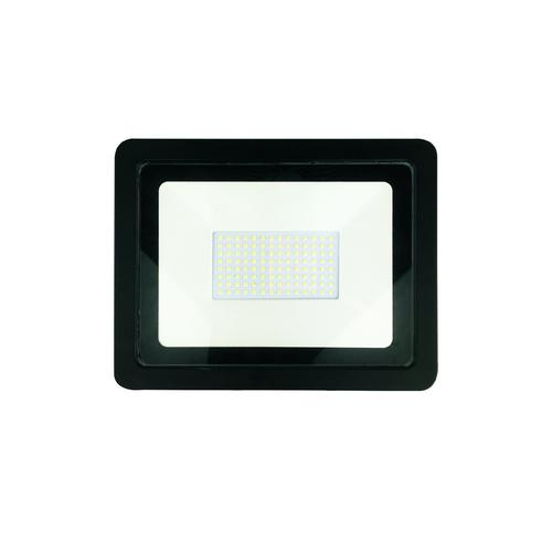 Černý LED světlomet 100 W. Barva: 3000 K.
