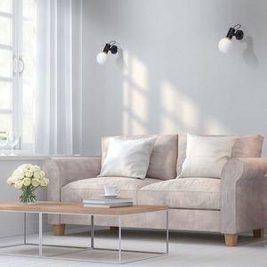 Nástěnná lampa Auris Black 1x E14 small 1