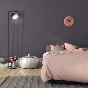 Stojací lampa oválná černá 1x E27 small 1