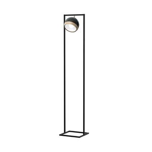 Stojací lampa oválná černá 1x E27 small 0