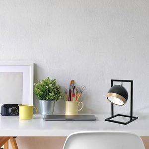 Oválná stolní lampa černá 1x E27 small 1