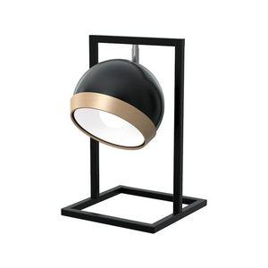 Oválná stolní lampa černá 1x E27 small 0