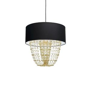 Závěsná lampa Almeria černá / zlatá 1x E27 small 2