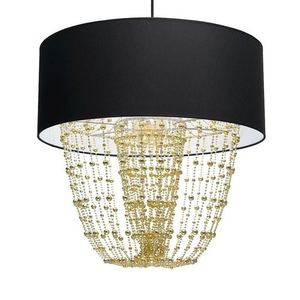 Závěsná lampa Almeria černá / zlatá 1x E27 small 3