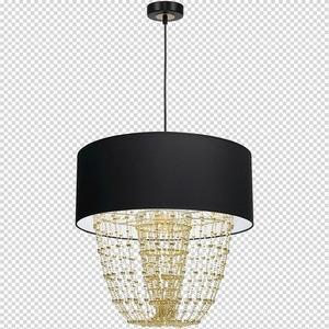 Závěsná lampa Almeria černá / zlatá 1x E27 small 7