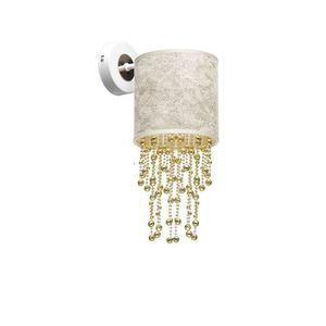 Nástěnná lampa Almeria bílá / zlatá 1x E27 small 2