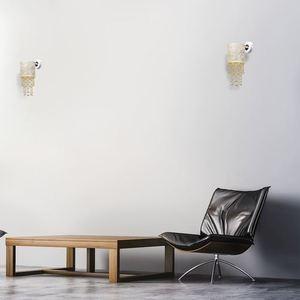 Nástěnná lampa Almeria bílá / zlatá 1x E27 small 5