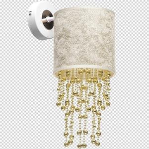 Nástěnná lampa Almeria bílá / zlatá 1x E27 small 7