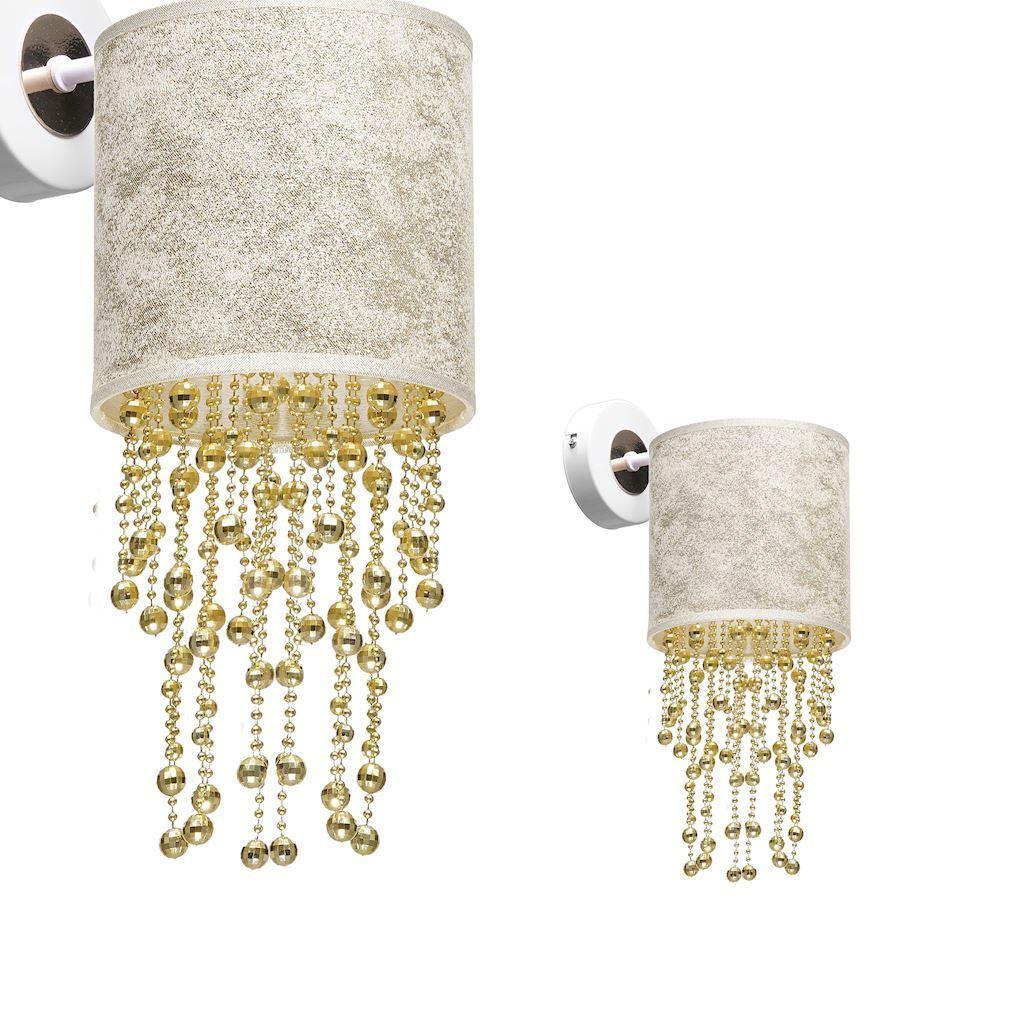 Nástěnná lampa Almeria bílá / zlatá 1x E27
