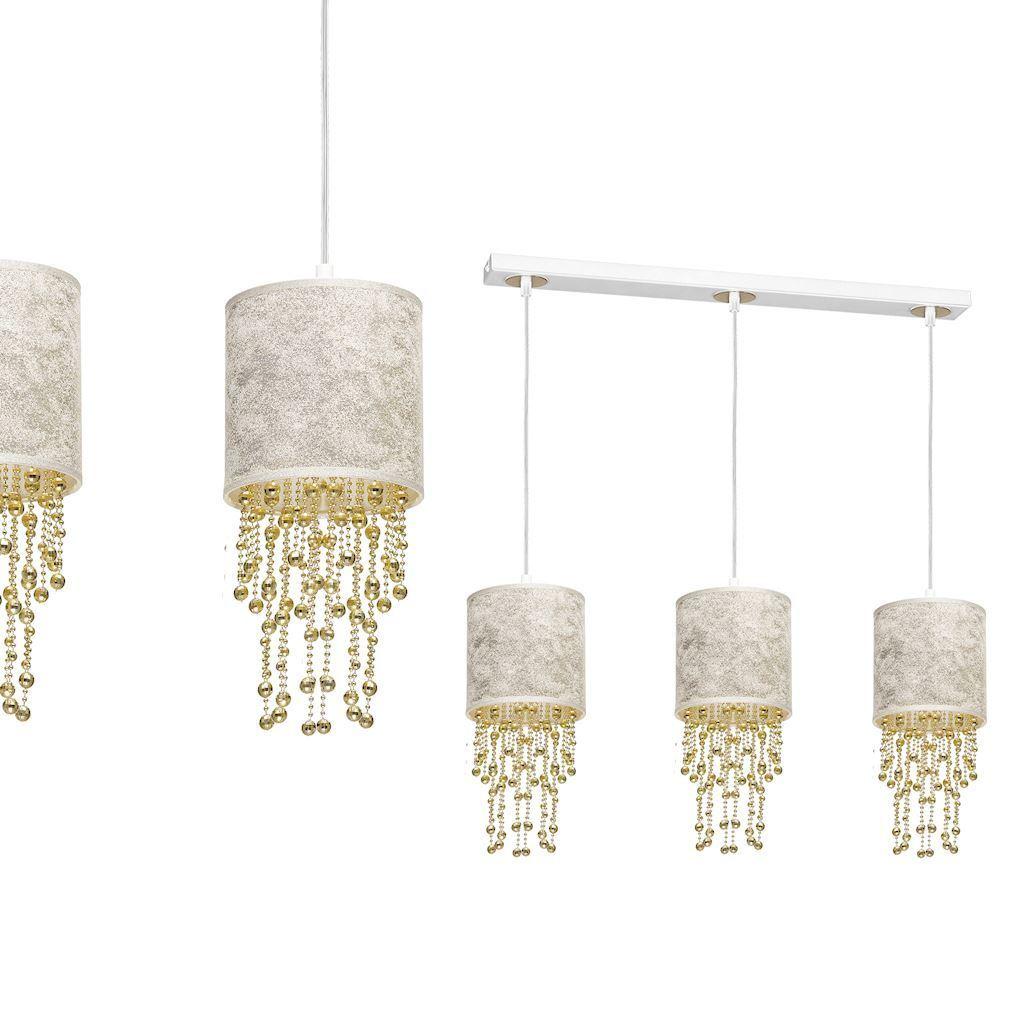 Závěsná lampa Almeria bílá / zlatá 3x E27