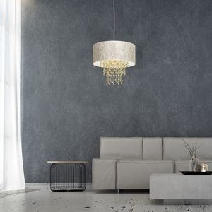 Závěsná lampa Almeria bílá / zlatá 1x E27 small 4