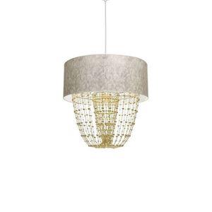 Závěsná lampa Almeria bílá / zlatá 1x E27 small 2