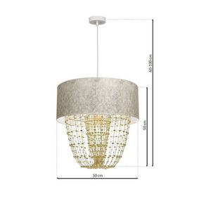Závěsná lampa Almeria bílá / zlatá 1x E27 small 6