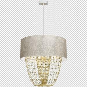 Závěsná lampa Almeria bílá / zlatá 1x E27 small 7
