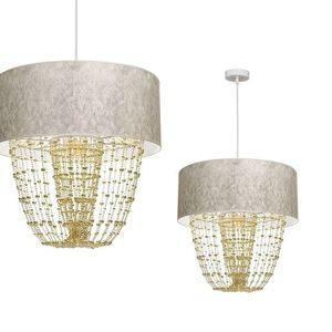 Závěsná lampa Almeria bílá / zlatá 1x E27 small 0