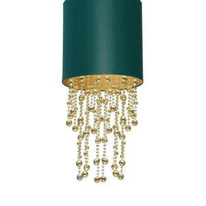 Závěsná lampa Almeria zelená / zlatá 1x E27 small 3