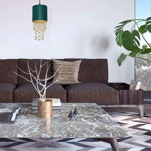 Závěsná lampa Almeria zelená / zlatá 1x E27 small 4