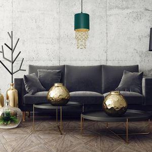 Závěsná lampa Almeria zelená / zlatá 1x E27 small 5