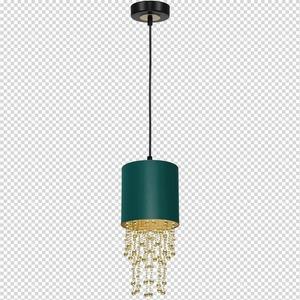 Závěsná lampa Almeria zelená / zlatá 1x E27 small 7