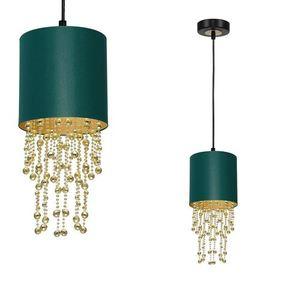 Závěsná lampa Almeria zelená / zlatá 1x E27 small 0