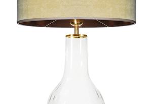 Skleněná stolní lampa Famlight Alor Transparent olivová / hnědá E27 60W ručně vyráběná small 1