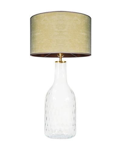 Skleněná stolní lampa Famlight Alor Transparent olivová / hnědá E27 60W ručně vyráběná