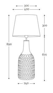 Ručně vyráběná lampa Famlight Alor Transparentní černá / stříbrná E27 60W průhledná láhev small 4