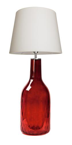 Skleněná lampa Famlight Alor Ruby krémová / bílá E27 60W ručně vyrobená
