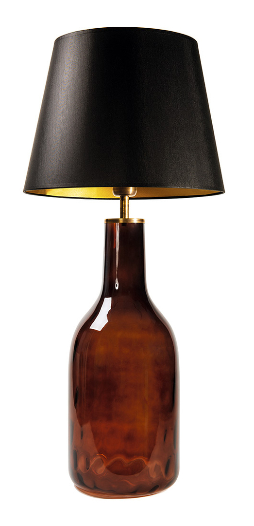 Stojací lampa do obývacího pokoje Famlight Alor Brown černá / zlatá E27 60W