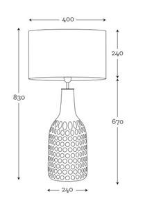 Dekorativní stolní lampa Famlight Alor Black Sky Matt grey E27 60W ručně vyráběná small 1