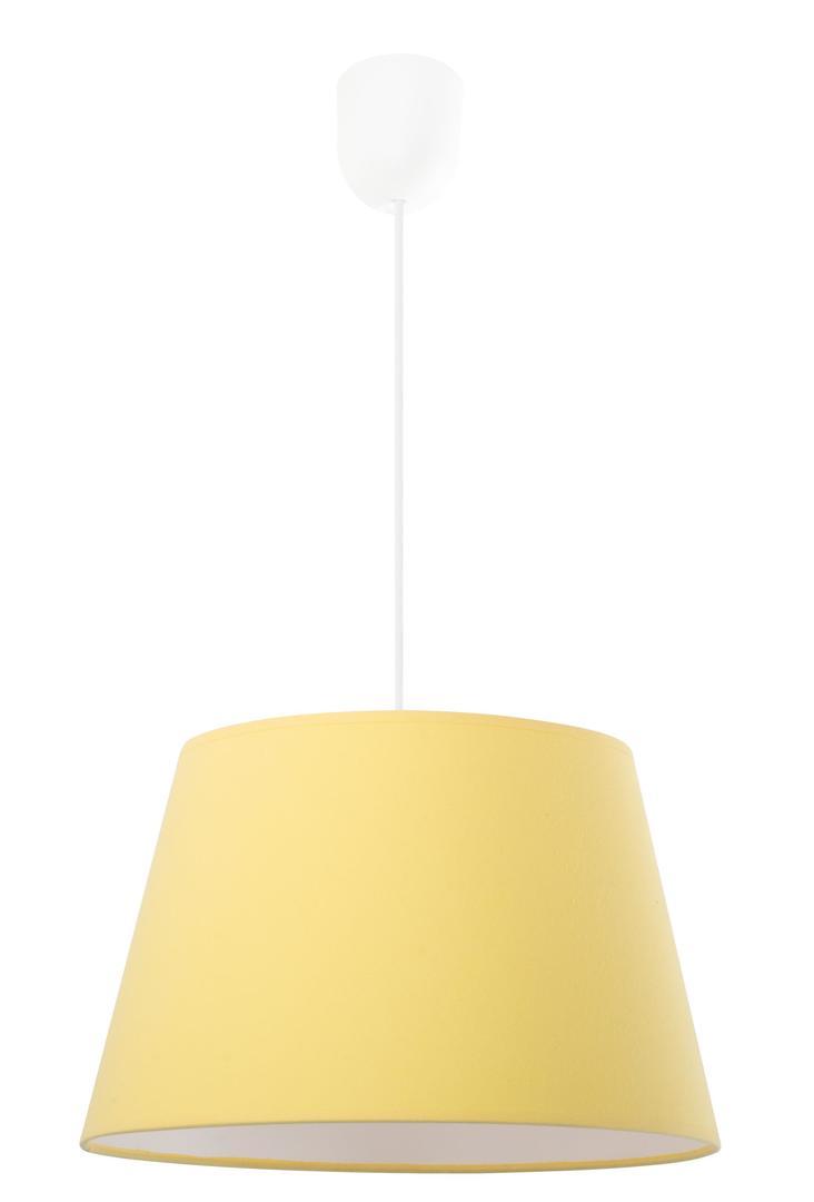 Minimalistická závěsná lampa pastelově žlutá