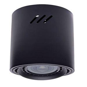 Stropní lampa Tubo Black 1x Ar111 (bez žárovky) small 1