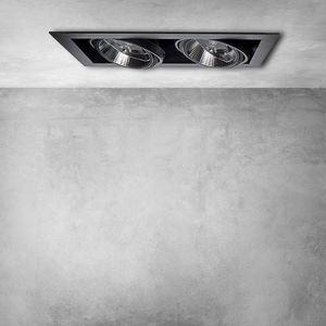 Zapuštěné svítidlo Plaza 2x Gu10 Ar111 Black small 6