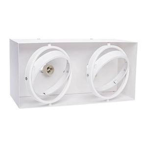 Přisazené svítidlo Plaza 2x Gu10 Ar111 bílá small 1
