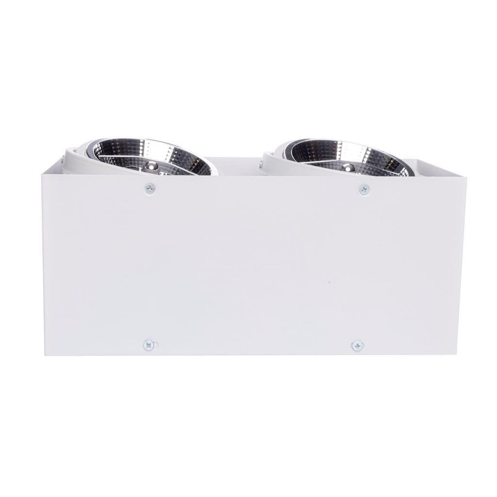 Přisazené svítidlo Plaza 2x Gu10 Ar111 bílá