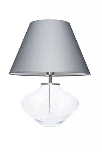 Komoda Bali transparentní šedá / bílá Famlight E27 60W ručně vyráběná