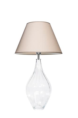 Skleněná stolní lampa Borneo Optic Transparent Famlight béžová / bílá E27 60W