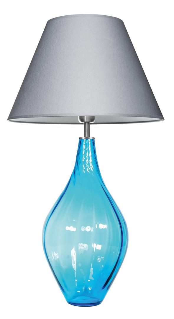 Moderní stolní lampa Borneo Aquamarine Famlight E27 60W ručně vyráběná