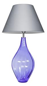 Lampa se skleněnou základnou Borneo Purple Famlight E27 60W polská produkce small 0