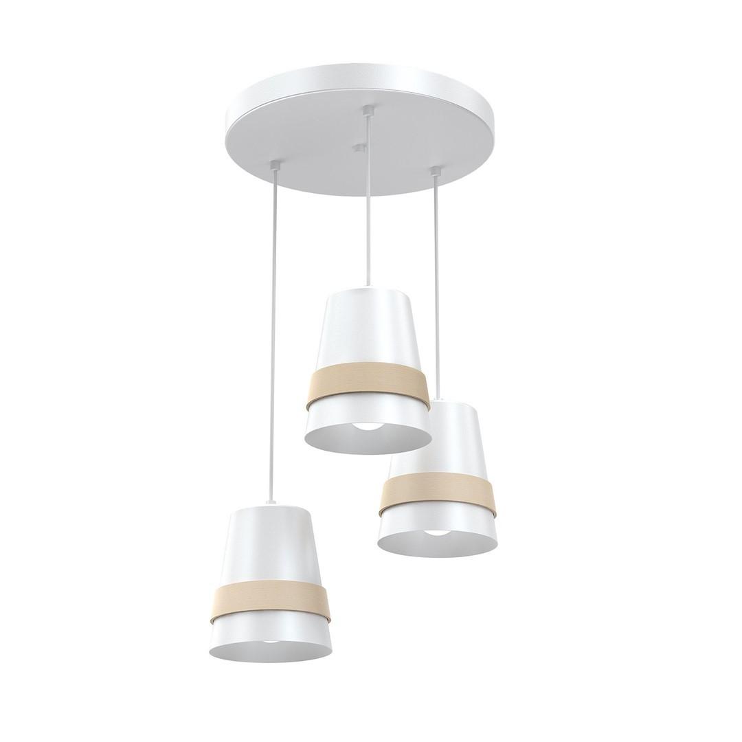 Závěsná lampa Venezia White 3x E27
