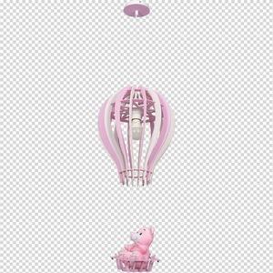 Balíček závěsná lampa růžová 1x E27 60 W small 7