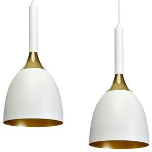 Závěsná lampa Clark White / Gold 3x E27 small 4