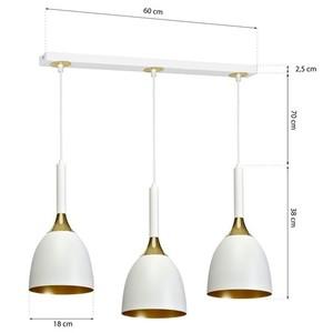 Závěsná lampa Clark White / Gold 3x E27 small 7