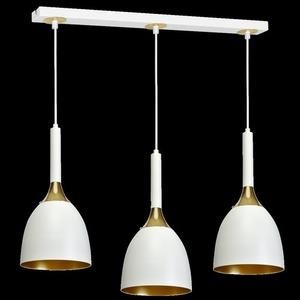 Závěsná lampa Clark White / Gold 3x E27 small 8