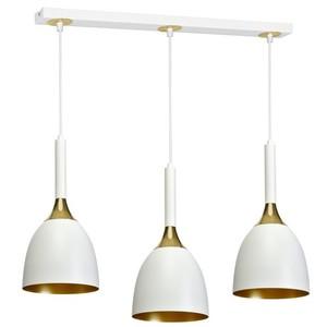 Závěsná lampa Clark White / Gold 3x E27 small 0